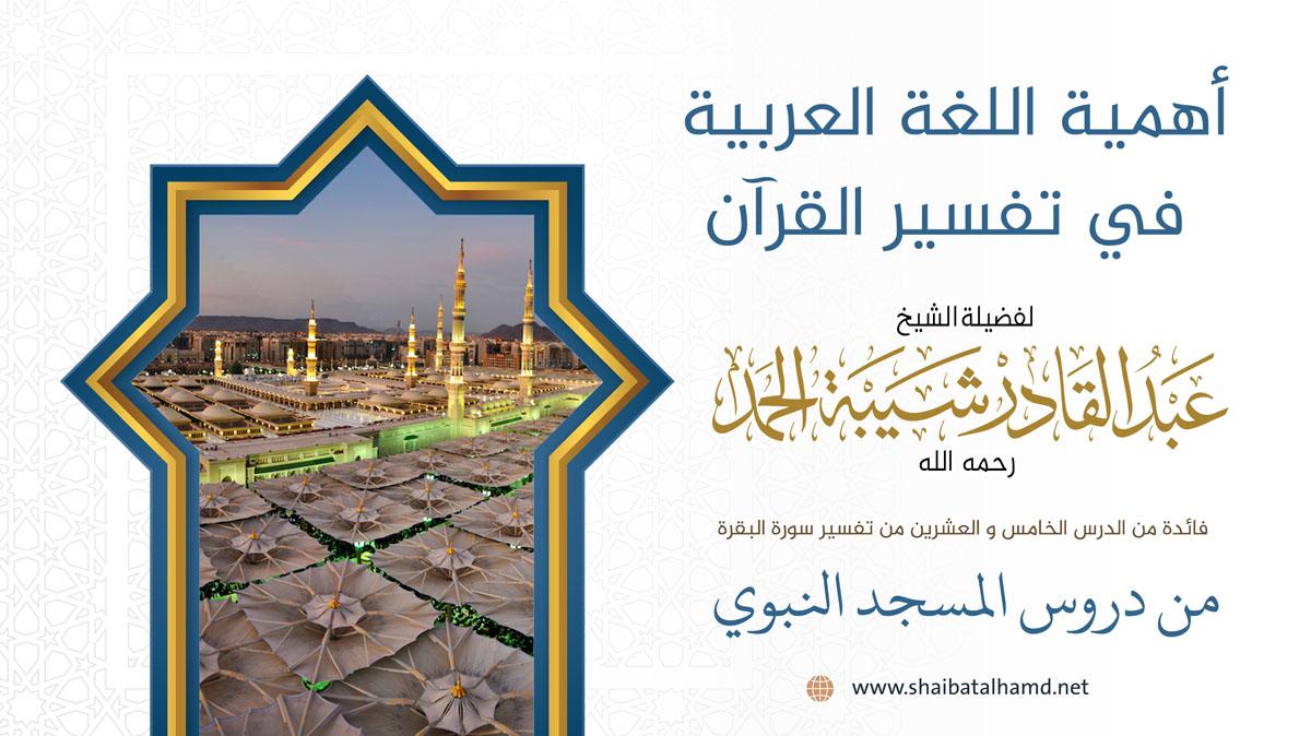أهمية اللغة العربية في تفسير القرآن